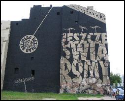 Le devoir de mémoire : peinture murale, varsovie